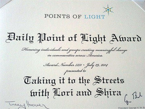 Points of Light Certificate