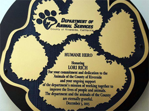 RCDAS Humane Hero Award