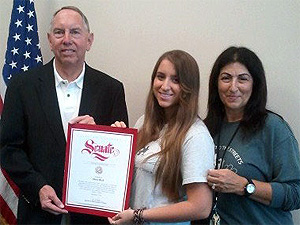 California Senator Richard Roth, Shira Rich and Lori Rich